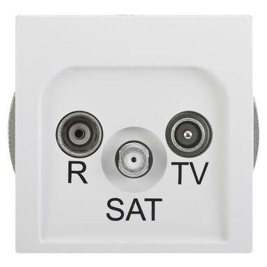 Gniazdo RTV SAT KOŃCOWE BASIC  Biały  KONTAKT SIMON