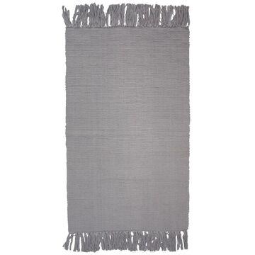 Dywan bawełniany BASIC jasnoszary 50 x 80 cm INSPIRE