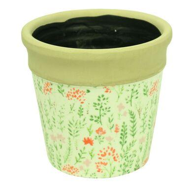 Osłonka ceramiczna 11.5 cm KWIATY