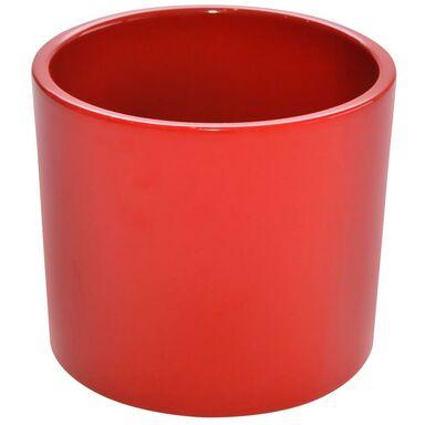 Osłonka ceramiczna 13 cm czerwona WALEC CERAMIK