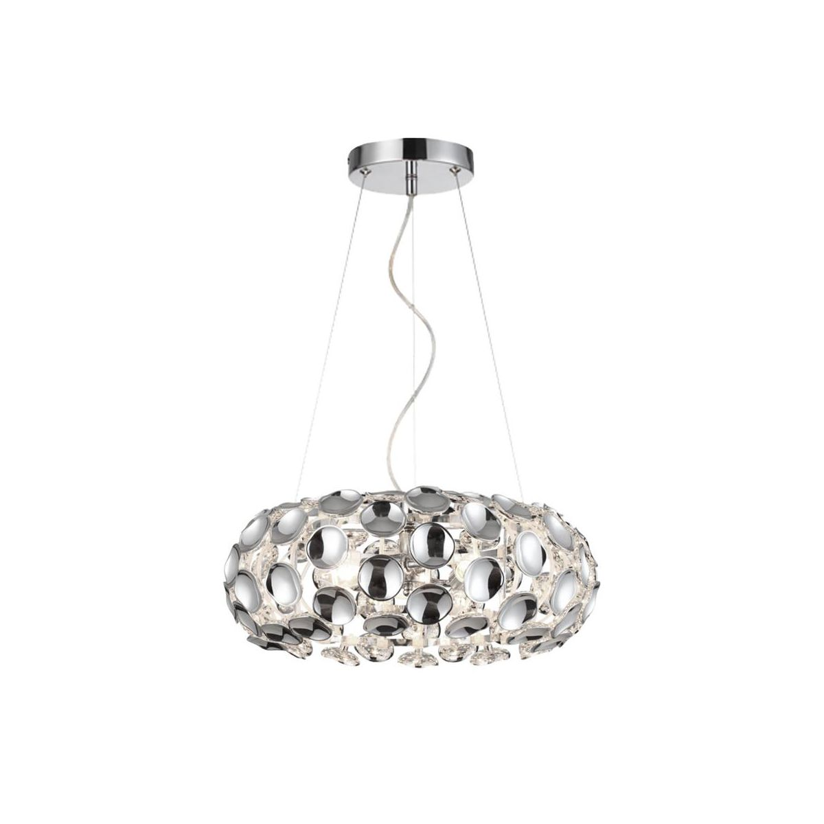 Lampa Wiszaca Ferrara Chrom E14 Light Prestige Zyrandole Lampy Wiszace I Sufitowe W Atrakcyjnej Cenie W Sklepach Leroy Merlin