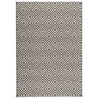 Dywan zewnętrzny PATIO czarno-biały 80 x 150 cm