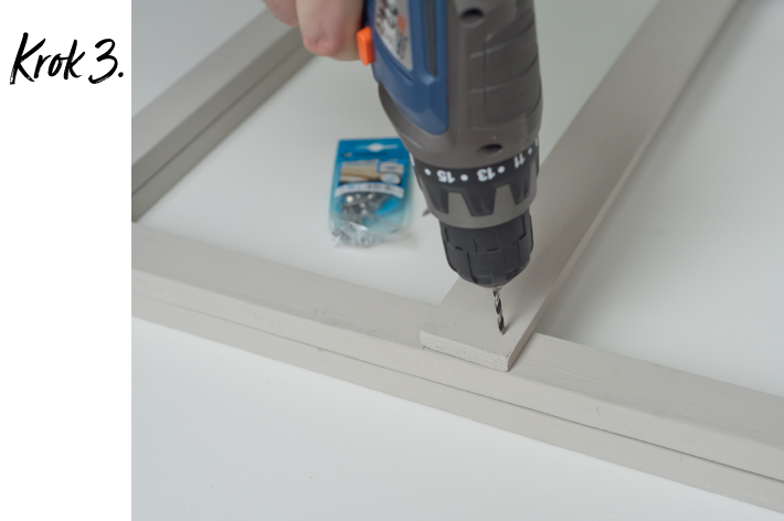 Kwietnik stojący DIY - krok 3
