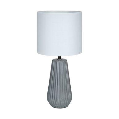 Lampa stołowa NICCI biało-szara E14 MARKSLOJD