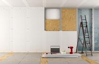 Ścianka z płyt gipsowo-kartonowych na ruszcie aluminiowym