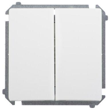 Włącznik podwójny BASIC  biały  SIMON