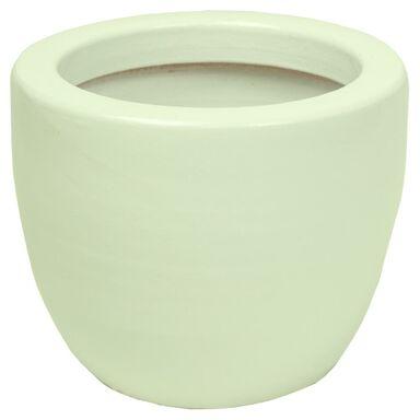 Osłonka gliniana 16 cm biała PERŁA KAEMINGK