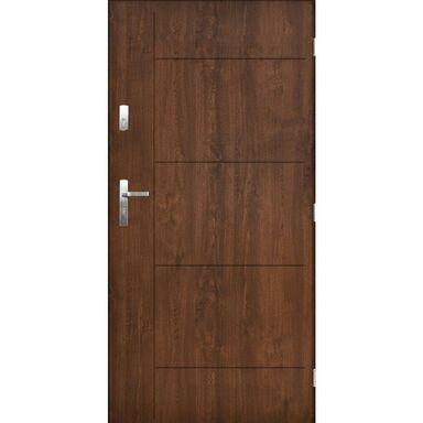 Drzwi zewnętrzne stalowe Panama orzech 80 prawe Pantor