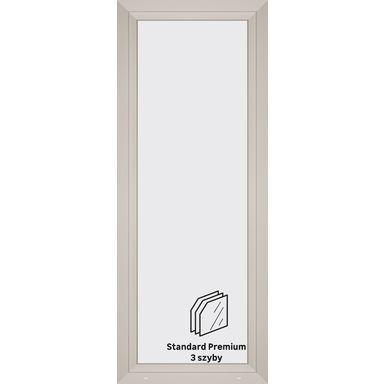 Okno PCV 3-szybowe balkonowe OB6 Białe 865 x 2195 mm