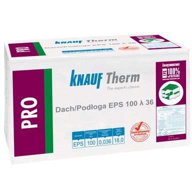 Styropian dach podłoga niefrezowany PRO EPS 100 100 mm KNAUF