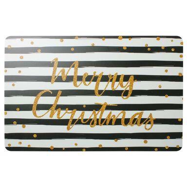 Podkładka świąteczna Merry Christmas prostokątna 43 x 28 cm