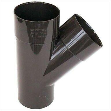 Trójnik rynnowy 50 mm/45° Brązowy SCALA PLASTICS