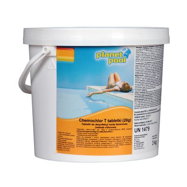 Tabletki do basenu 20 g / 3 kg PLANET POOL CHEMOCHLOR T