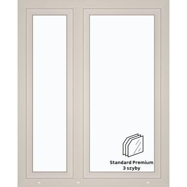 Okno PCV 3-szybowe O32 Białe 1165 x 1435 mm