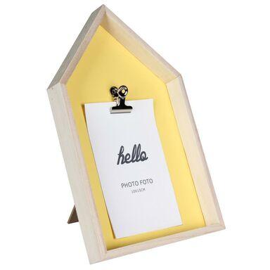 Ramka na zdjęcia z klipsem Foli 10 x 15 cm żółta MDF