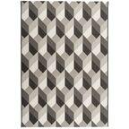 Dywan zewnętrzny Patio czarno-biały 160 x 230 cm