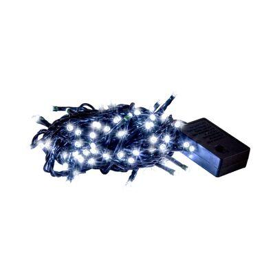Lampki choinkowe zewnętrzne 200 LED zimna biel z gniazdem i programatorem