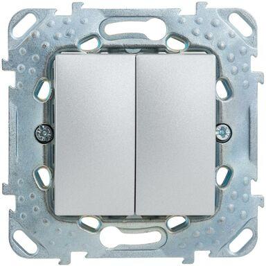 Włącznik schodowy podwójny UNICA  aluminium  SCHNEIDER