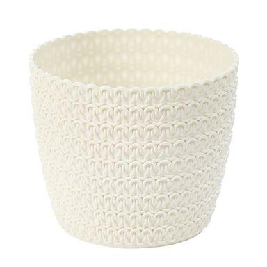 Osłonka plastikowa 22 cm kremowa MAGNOLIA