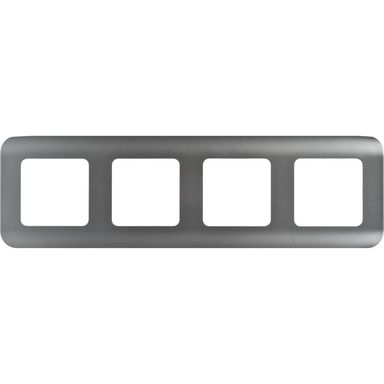 Ramka poczwórna COSY  aluminium  LEXMAN