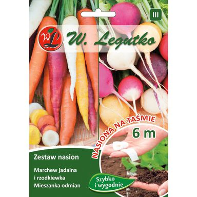 Nasiona warzyw MARCHEW, RZODKIEWKA Mieszanka W. LEGUTKO