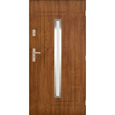 Drzwi zewnętrzne stalowe Ozyrys 2 Złoty Dąb 90 prawe Pantor