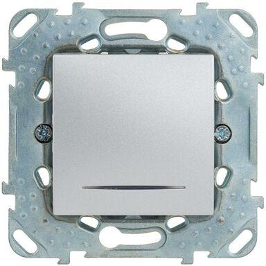 Włącznik schodowy Z PODŚWIETLENIEM UNICA  Srebrny aluminowy  SCHNEIDER
