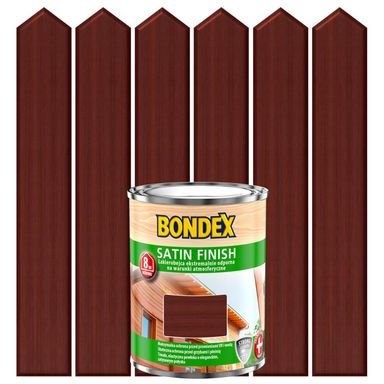 Lakierobejca do drewna SATIN FINISH 0.75 l  Mahoń BONDEX