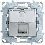 Gniazdo telefoniczne pojedyncze UNICA  aluminium  SCHNEIDER ELECTRIC