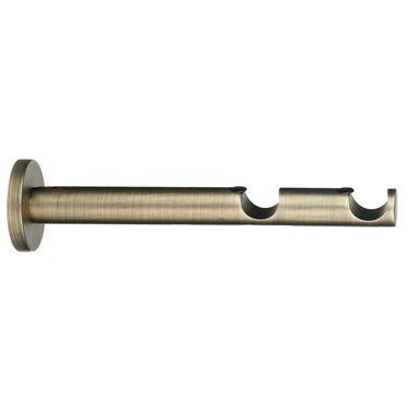Wspornik do karnisza 19 mm podwójny ścienny antyczna stal dł. 160 mm