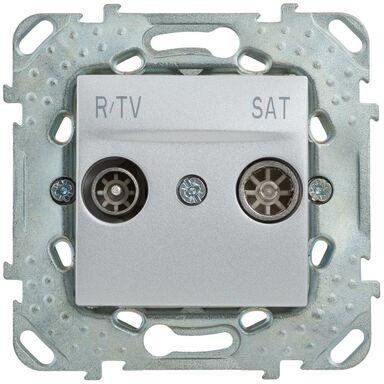 Gniazdo RTV KOŃCOWE UNICA SAT  Srebrny  SCHNEIDER ELECTRIC