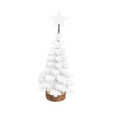 Choinka drewniana 27 cm biała