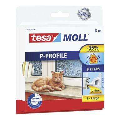 Uszczelka do drzwi i okien MOLL Profil P 6 m biała TESA