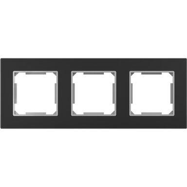 Ramka potrójna EDG1003GB czarne-szkło LEXMAN