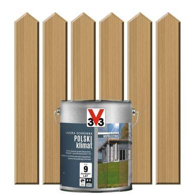 Lazura do drewna POLSKI KLIMAT WSPÓŁCZESNA 0.75 l  Pozłacana sosna V33
