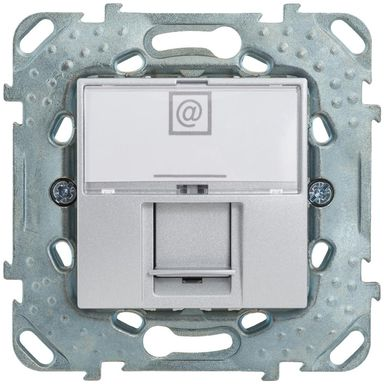 Gniazdo komputerowe pojedyncze UNICA  aluminium  SCHNEIDER ELECTRIC