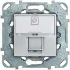 Gniazdo komputerowe POJEDYNCZE UNICA  Srebrny  SCHNEIDER ELECTRIC