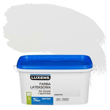 Farba wewnętrzna EMULSJA 5 l Śnieżna biel LUXENS