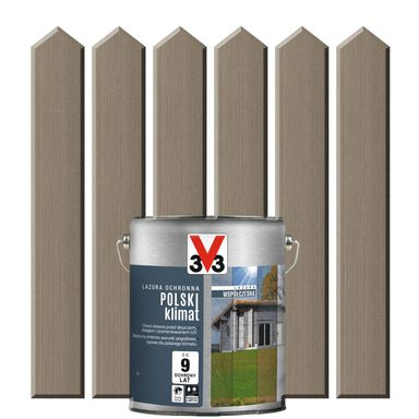 Lazura do drewna POLSKI KLIMAT WSPÓŁCZESNA 0.75 l  Srebrnoszary V33