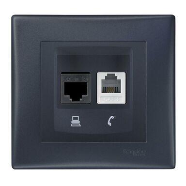 Gniazdo telefoniczno - komputerowe SEDNA Grafitowy SCHNEIDER ELECTRIC