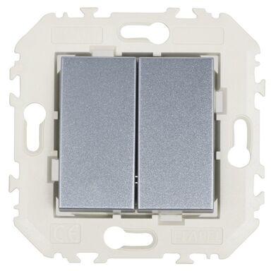 Włącznik podwójny QUADRO Aluminium  EFAPEL