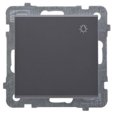 Przycisk do światła SONATA  czarny  OSPEL
