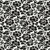 Okleina Kwiaty Barok czarno-biała 45 x 200 cm w kwiaty