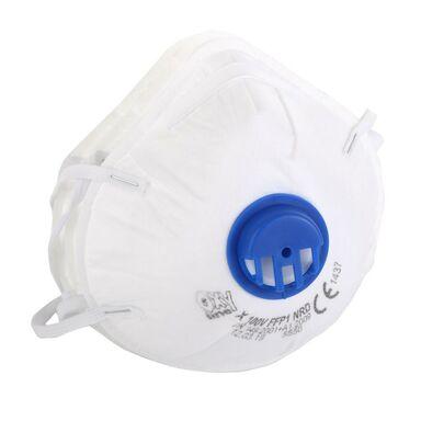 Maski przeciwpyłowe FFP1 z zaworem 3 szt. 46007