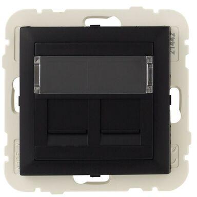 Gniazdo komputerowe LOGUS 90 Czarny  EFAPEL