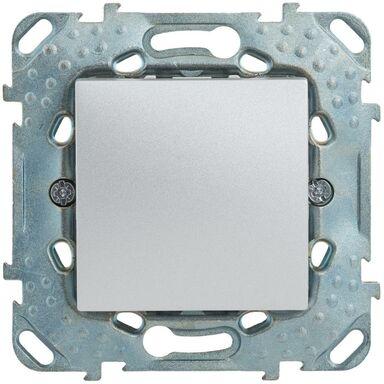 Przycisk DZWONEK PODŚIETLANY UNICA  Srebrny aluminowy  SCHNEIDER