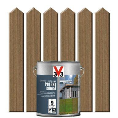 Lazura do drewna POLSKI KLIMAT WSPÓŁCZESNA 2.5 l Ciemna miedź V33