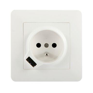Gniazdo pojedyncze z USB ARTEZO  biały  HBF