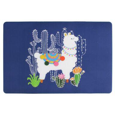 Podkładka na stół Lama prostokątna 43 x 28 cm niebieska