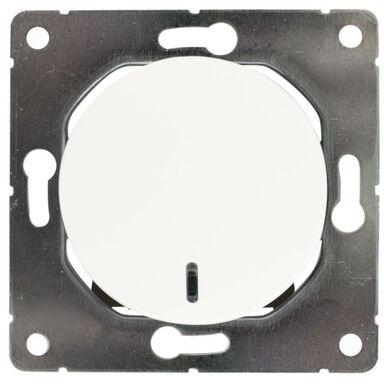 Włącznik pojedynczy schodowy z podświetleniem SEU1024W BIAŁY DPM